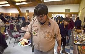 volunteers serve thanksgiving food friendship in seaside local