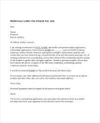 writing a referral letter 5 reference letter for friend templates free sample example