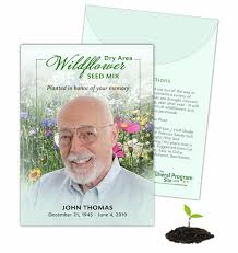 custom seed packets the funeral program site launches new custom seed packets product line