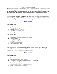 Standard Resume How To Make A Standard Cv