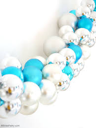 diy christmas ornament baubles garland party ideas party