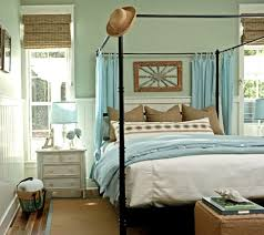 Green And Blue Bedrooms - turquoise bed panels transitional bedroom