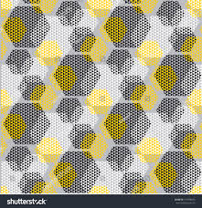 concept modern geometry pattern yellow black stock vector