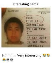 Funny Meme Names - interesting name bich phuc dat hmmm very interesting
