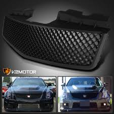 2003 2007 cadillac cts v abs mesh front grill matte black