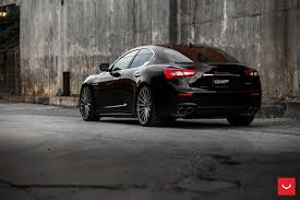 custom maserati black maserati ghibli looking fly on custom polished silver wheels