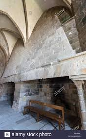 france normandy mont st michel the big fireplace of the