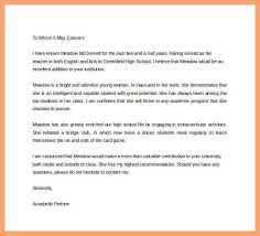 recommendation letter for high student scholarship