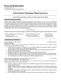 director investment banking in nyc ny resume pascal kabemba
