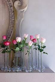 Single Stem Glass Vase Love The Use Of All The Odd Jars Bottles And Glasses For This