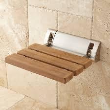 teak fold up shower seat bathroom image on captivating teak wood