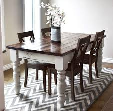 Distressed Dining Room Table Best White Rectangle Shaby Chic Wood White Distressed Dining Table