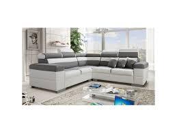 canapé d angle blanc conforama canapé d angle colorado gris et blanc avec têtières inclinables