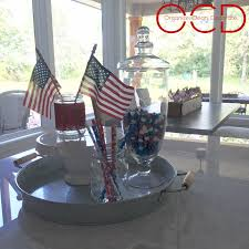 4th of july 2016 decor organize clean decorate flags from at home apothecary jar from at home pedestal from target s dollar spot posted in 4th of july decor