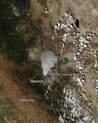 California Wildfire Smoke Map by Nasa Image Shows Extent Of Yosemite Fire U0027s Smoke Plume La Times