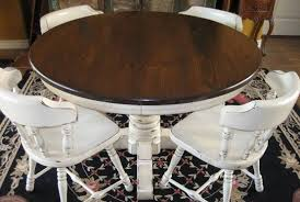 round farmhouse dining table round farmhouse dining table and chairs modest with image of round