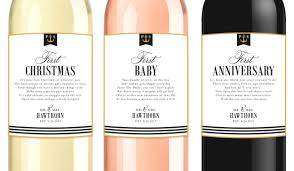 custom married first milestone wine labels nautical wedding