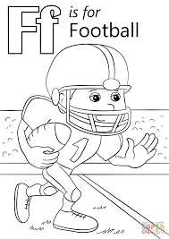 Letter F Is For Football Coloring Page Free Printable Coloring Pages Football Coloring Page