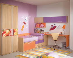 Home Design And Decoration Purple And White Themed Modern Kids Room Design With Corner Space