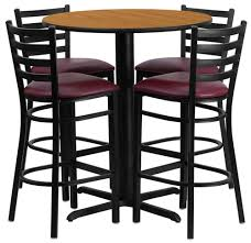 Dining Room Bar Table by Dining Room Wonderful Pplar Bar Table And 2 Stools Brown Stained
