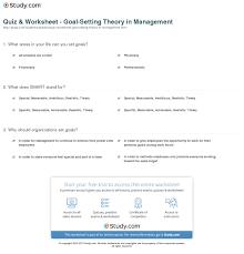 quiz u0026 worksheet goal setting theory in management study com