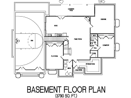 house floor plan with indoor basketball court