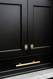 brass and black kitchen cabinet hardware reinvented classic kitchen design home bunch interior