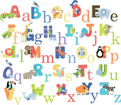 Animal Alphabet Baby Nursery Peel  Stick Wall Art Sticker Decals - Alphabet wall decals for kids rooms