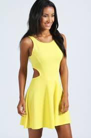 boohoo clothes boohoo womens sleeveless cut out sides skater dress