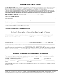 illinois cash farm lease fill online printable fillable blank