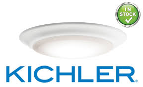 Kichler Lighting Jobs by Kichler Low Profile 1 Light 3000k Led Flush Mount Leff Electric