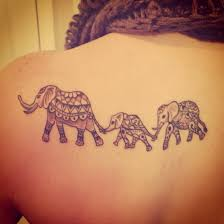 Small Mother Daughter Tattoos Latest 55 Elephant Tattoo Designs For Girls 2015 Elephant