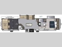 Keystone Rv Floor Plans New 2017 Keystone Rv Carbon 417 Toy Hauler Fifth Wheel At Optimum