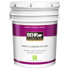 Home Depot Competitor Coupon Policy by Behr Premium Plus 5 Gal Ultra Pure White Eggshell Enamel Zero Voc