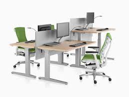 Shallow Computer Desk Renew Standing Desk Herman Miller