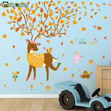 Children S Living Room Furniture by New Cartoon Deer Stickers Living Room Bedroom Children U0027s Room