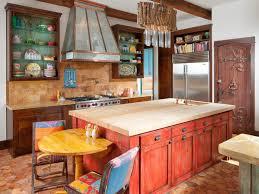 kitchen decoration stylish distressed red kitchen island with