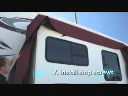 Rv Slide Out Awning Reviews Slideoutboot Install Youtube