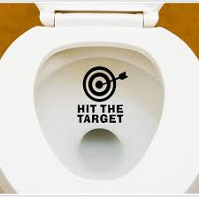 target wall decals promotion shop for promotional target wall 12 11cm diy arrow target toilet seat stickers bathroom sticker home refrigerator wall decal art 426