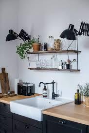 etagere de cuisine étagère cuisine en bois vintage scandinave graphique