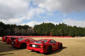 slammed ferrari f40 mt fuji 20th anniversary celebration of the ferrari f40