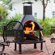 outdoor fireplace w smokestack wood burning backyard bbq cooking