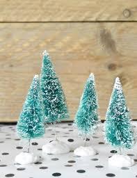 christmas diy bottle brush trees coeurrated