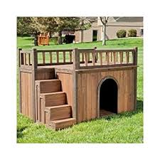 amazon com dog house with stairs staircase balcony porch