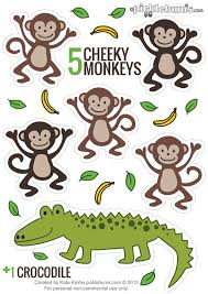 No More Monkeys Jumping On The Bed Song Printable Puppets Five Cheeky Monkeys And A Crocodile