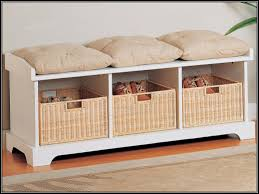 bed end bench with storage bench decoration
