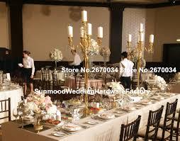 Cheap Gold Centerpieces by Online Get Cheap Tall Gold Wedding Candelabra Centerpiece