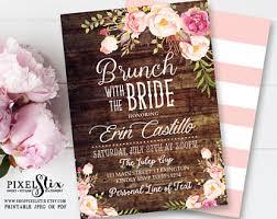 bridesmaids brunch invitations bridal brunch etsy