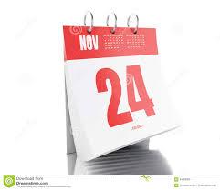 3d day calendar with date november 24 2017 stock illustration