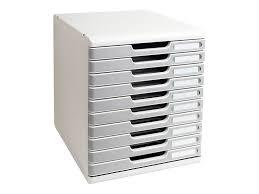 bloc de classement bureau exacompta modulo bloc de classement à tiroirs 10
